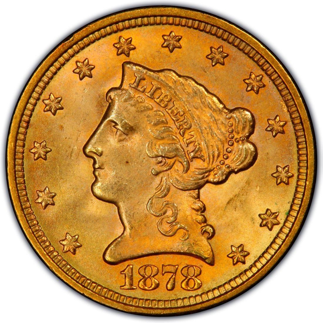1878 Liberty Head 2 50 Gold Quarter Eagle Coin