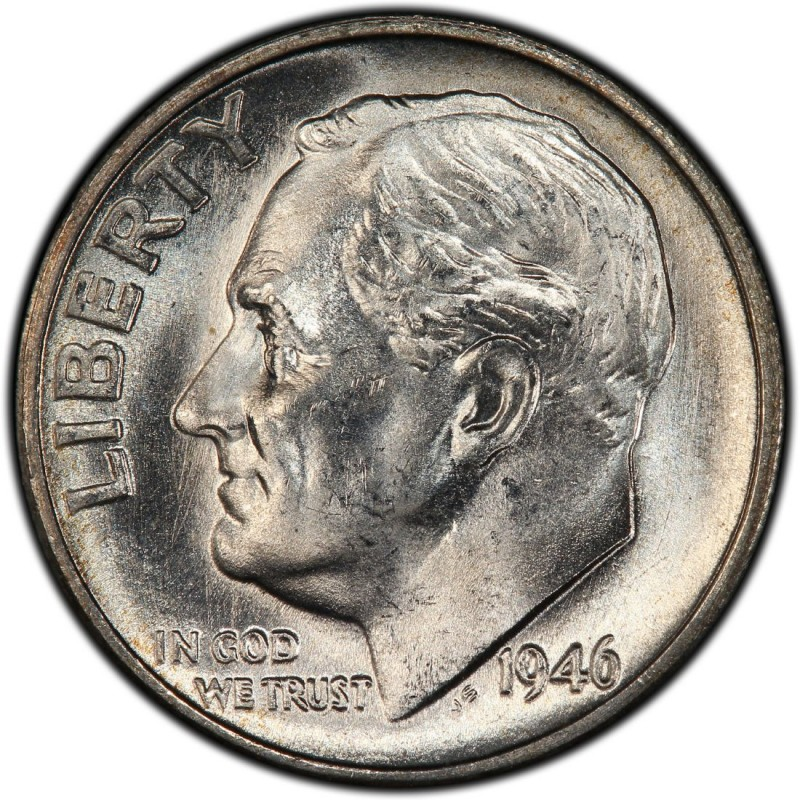 1946 Roosevelt Dime Values And Prices Past Sales