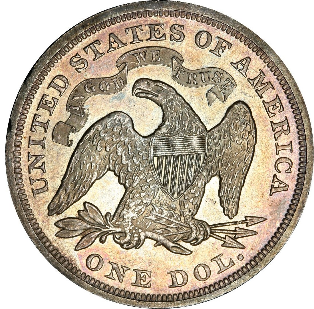 1870 Seated Liberty Silver Dollar Values And Prices Past