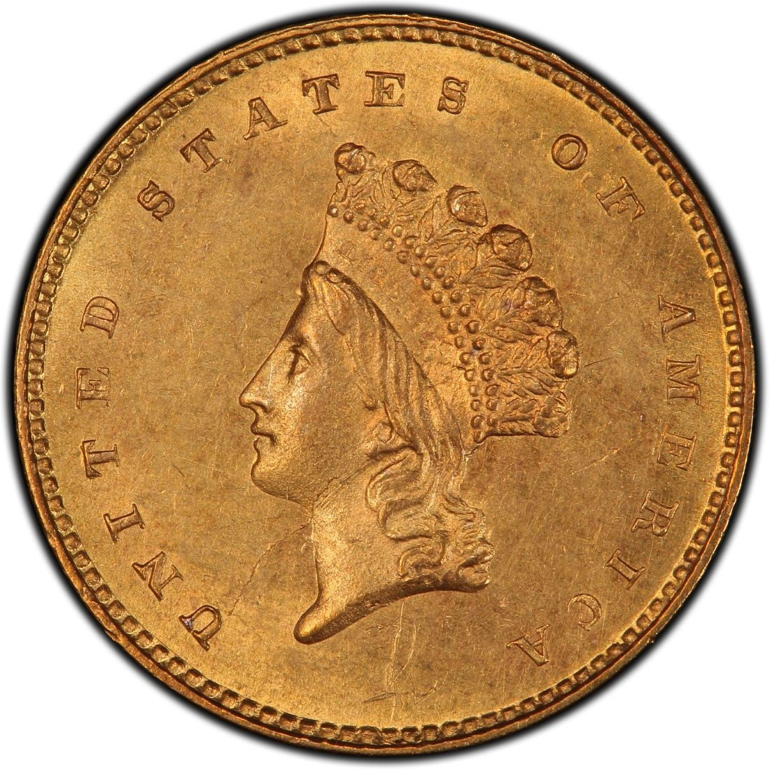 1856 Small Head Indian Princess Gold Dollar Values And