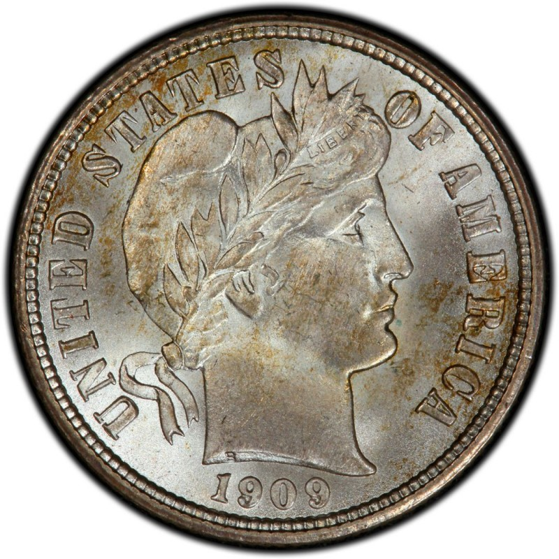 1909 Barber Dime Values And Prices Past Sales