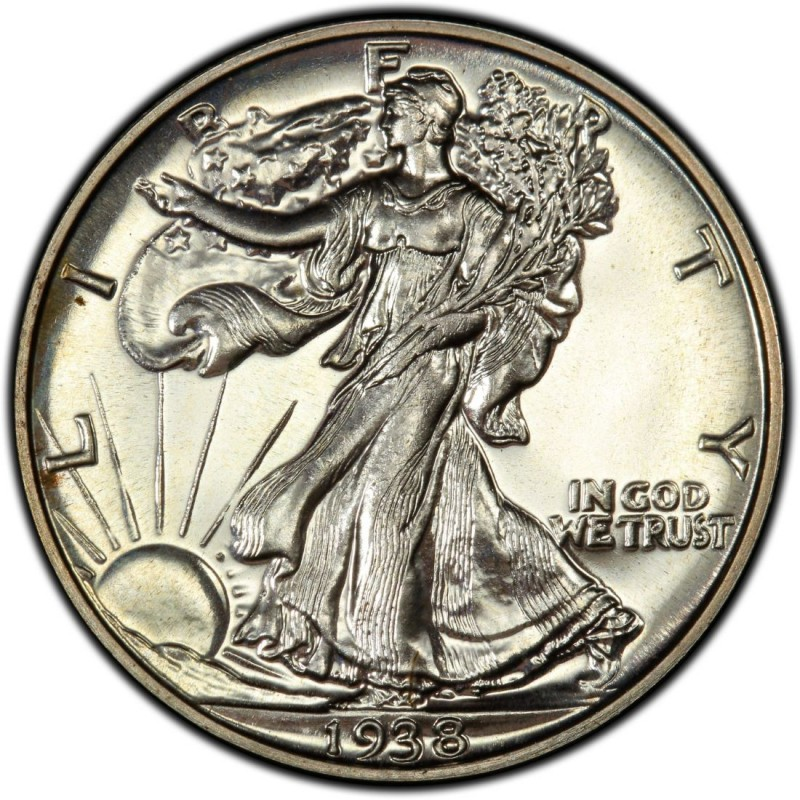 1938 Walking Liberty Half Dollar Values And Prices Past