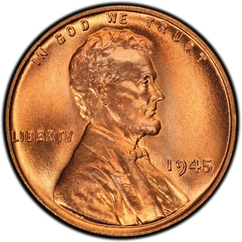 1945 Lincoln Wheat Pennies Values and Prices - Past Sales