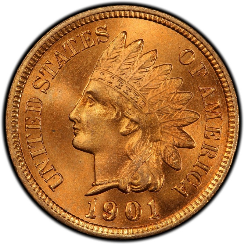 1901 Indian Head Pennies Values And Prices Past Sales