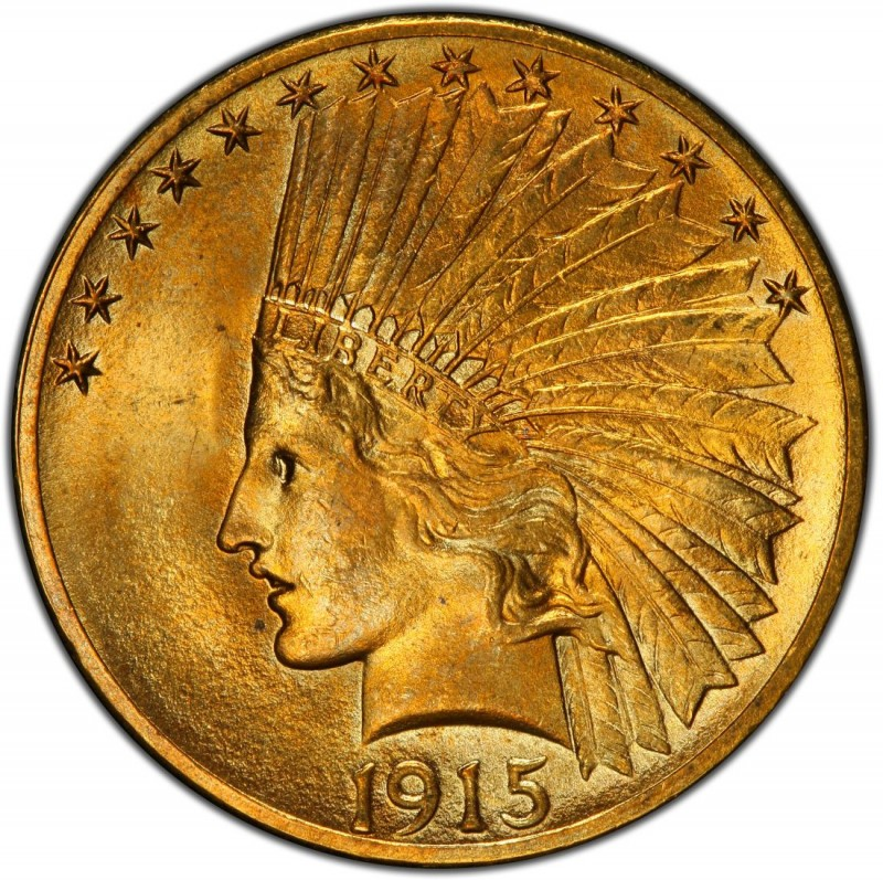 1915 Indian Head Gold 10 Eagle Values And Prices Past