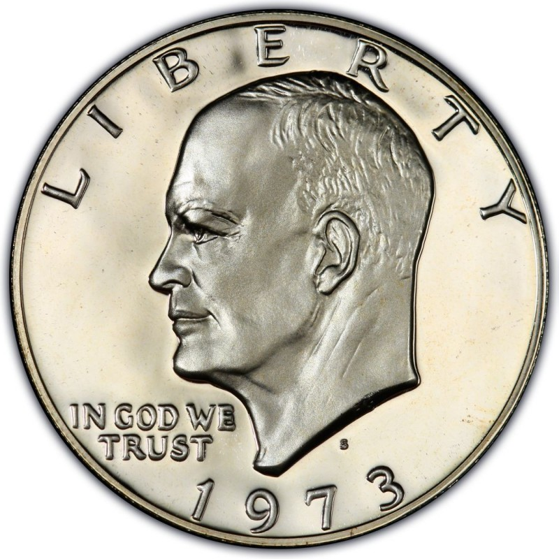 1973 S Silver Eisenhower Ike Dollar Gem $1 Proof