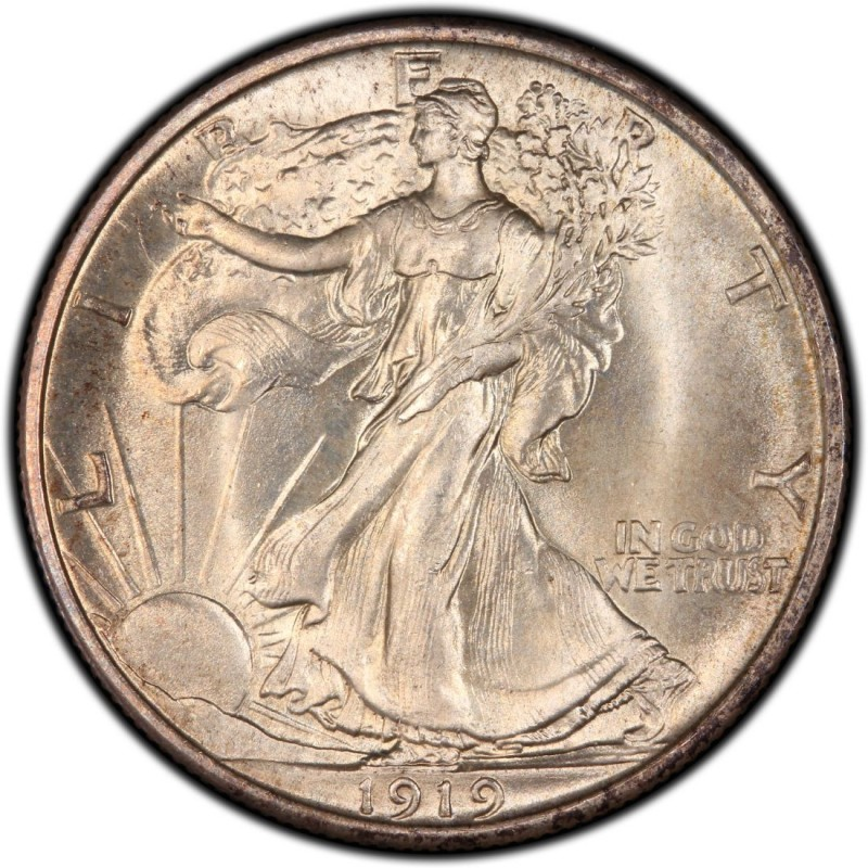 1919 Walking Liberty Half Dollar Values And Prices Past