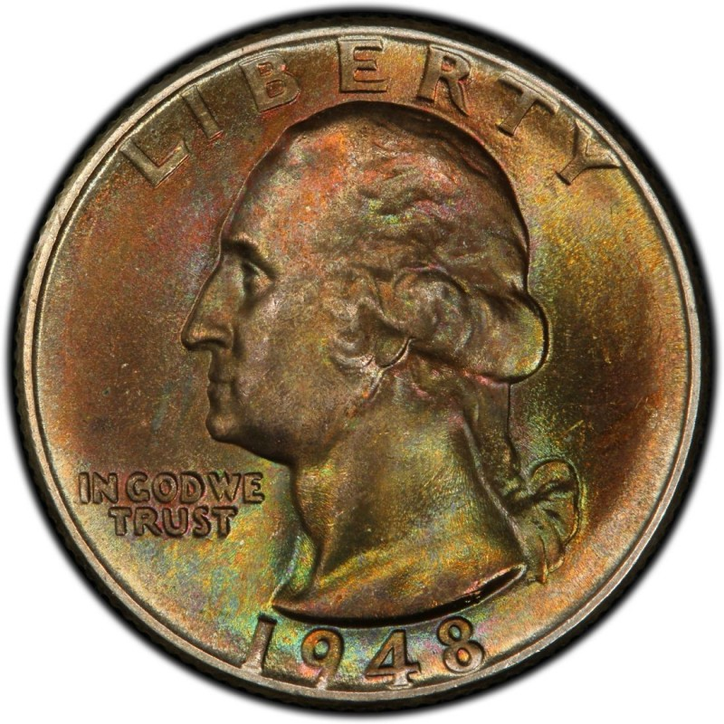 1948 Washington Quarter Values And Prices Past Sales