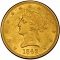 1842 Liberty Head $10 Gold Eagle