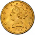 1855 Liberty Head $10 Gold Eagle
