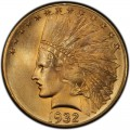 1932 Indian Head Gold $10 Eagle