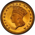 1866 Large Head Indian Princess Gold Dollar