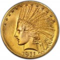 1911 Indian Head Gold $10 Eagle