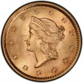 1852 Liberty Head Gold $1 Coin