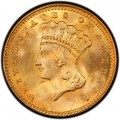1861 Large Head Indian Princess Gold Dollar