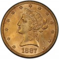 1887 Liberty Head $10 Gold Eagle