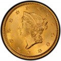 1854 Liberty Head Gold $1 Coin