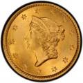 1854 Liberty Head Gold $1 Coin