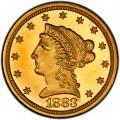 1883 Liberty Head $2.50 Gold Quarter Eagle Coin