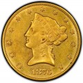 1876 Liberty Head $10 Gold Eagle