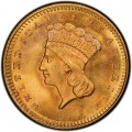 1868 Large Head Indian Princess Gold Dollar
