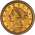 1874 Liberty Head $2.50 Gold Quarter Eagle Coin