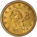 1875 Liberty Head $2.50 Gold Quarter Eagle Coin