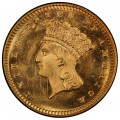 1867 Large Head Indian Princess Gold Dollar