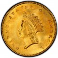 1854 Small Head Indian Princess Gold Dollar