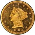 1888 Liberty Head $2.50 Gold Quarter Eagle Coin
