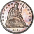 1840 Seated Liberty Silver Dollars