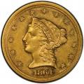 1864 Liberty Head $2.50 Gold Quarter Eagle Coin