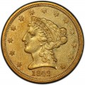 1842 Liberty Head $2.50 Gold Quarter Eagle Coin