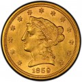 1859 Liberty Head $2.50 Gold Quarter Eagle Coin