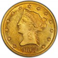 1867 Liberty Head $10 Gold Eagle