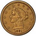 1861 Liberty Head $2.50 Gold Quarter Eagle Coin