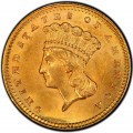 1860 Large Head Indian Princess Gold Dollar