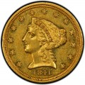 1841 Liberty Head $2.50 Gold Quarter Eagle Coin