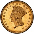1886 Large Head Indian Princess Gold Dollar