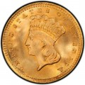 1856 Large Head Indian Princess Gold Dollar