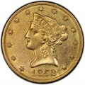 1852 Liberty Head $10 Gold Eagle