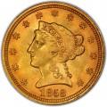 1858 Liberty Head $2.50 Gold Quarter Eagle Coin