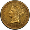 1869 Liberty Head $10 Gold Eagle