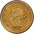 1876 Liberty Head $2.50 Gold Quarter Eagle Coin