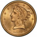 1852 Liberty Head Half Eagles