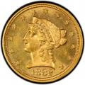 1882 Liberty Head $2.50 Gold Quarter Eagle Coin