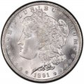 1891 Morgan Silver Dollar Value