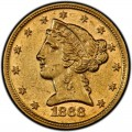 1868 Liberty Head Half Eagles