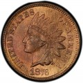 1876 Indian Head Pennies