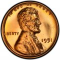 1951 Lincoln Wheat Pennies